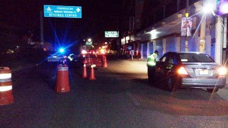 Asegura Policía Vial de Oaxaca a 12 conductores en estado de ebriedad en Alcoholímetro
