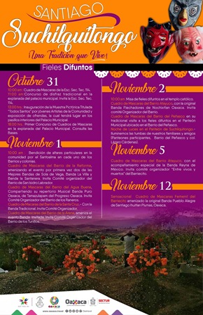 "Realizan Segunda Feria del ""Pan de Muerto"" en San Agustín Yatareni, Oaxaca"