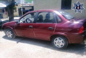 Chevy, guinda, placas MMF5367 de Oaxaca, modelo 2004 y serie 3G1SE51614S134081.