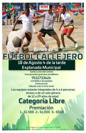 Convocan a jóvenes a participar en torneos de ajedrez y fútbol callejero en Santa Lucía del Camino