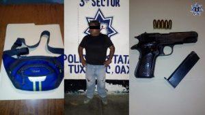 En San Pedro Ixcatlán, Tuxtepec, detuvieron a Nereo FG, de 41 años de edad.