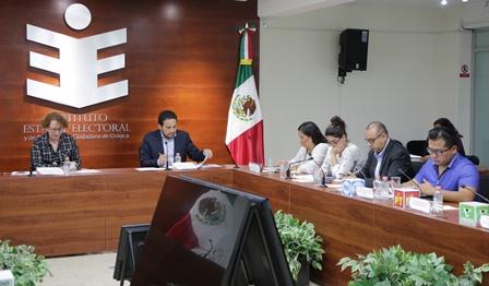 Presenta Comisión de Partidos Políticos del IEEPCO informe de actividades