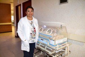 Diana Elizabeth Cardona Medina, encargada del área de Pediatría.