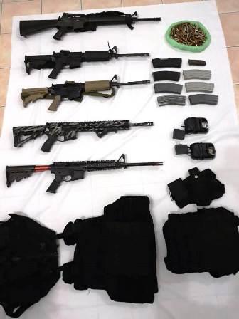 Detenidas dos personas con armas de grueso calibre en la Costa