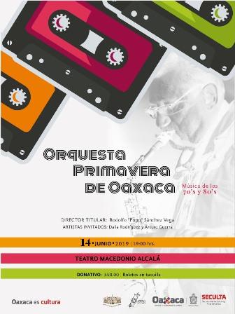 Con un concierto, revivirá la Orquesta Primavera de Oaxaca música de los años 70 y 80