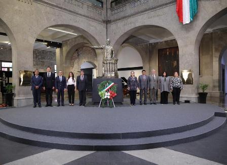 Rinden homenaje a Belisario Domínguez; 106 aniversario luctuoso del político chiapaneco