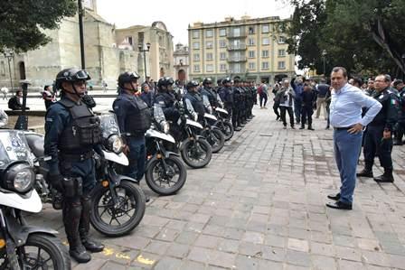 Resguardará Policía Municipal el Zócalo capitalino el tiempo que sea necesario: García Jarquín