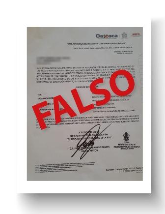 Alerta IEEPO sobre órdenes de adscripción falsas; detectan cuatro casos