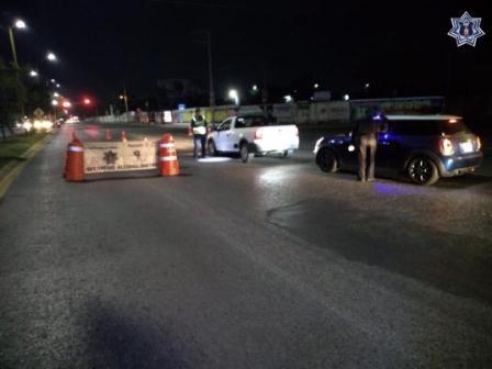 Arresta Policía Vial a 16 conductores en Operativo Alcoholímetro