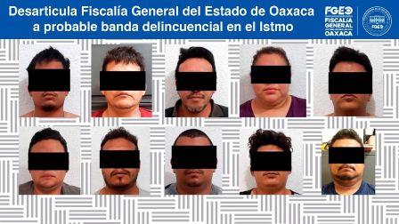 Detenidas 10 personas relacionadas con la comisión de diversos delitos en el Istmo
