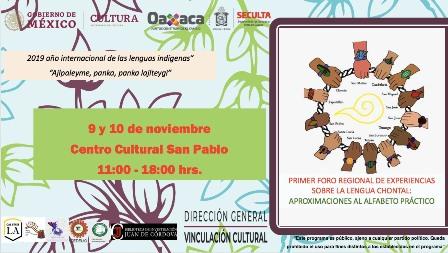 Realizarán Primer Foro Regional sobre lengua chontal en Oaxaca