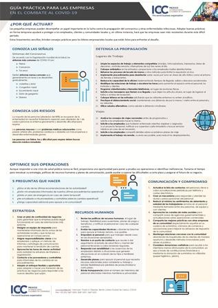 Lanza ICC guía práctica para pequeñas empresas, que ayude a detener propagación del Covid 19