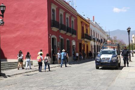 Reforzó Ayuntamiento de Oaxaca de Juárez acciones de seguridad en fin de semana largo