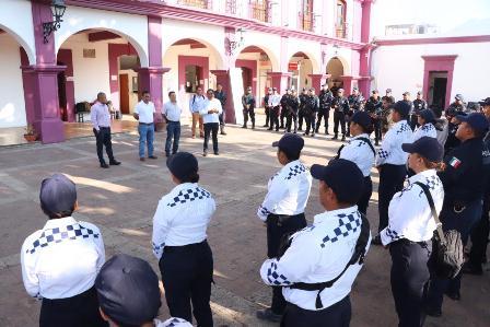 Activa Policía Municipal de Santa Lucía del Camino protocolo de prevención ante Covid-19