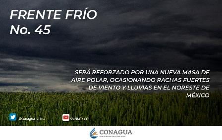 Para las próximas horas se pronostican lluvias fuertes en Nuevo León y Tamaulipas