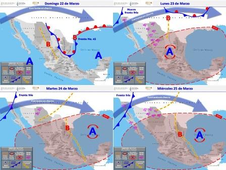 Prevén lluvias fuertes, descargas eléctricas y granizo en Valle de México, noreste y oriente del país