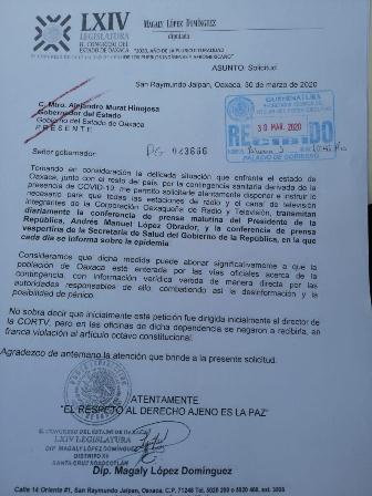 Medios institucionales de Oaxaca deben combatir desinformación ante contingencia sanitaria