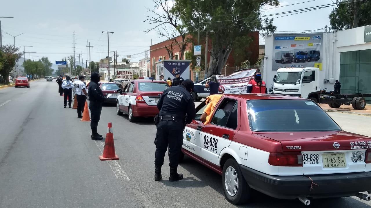 Filtros sanitarios de Oaxaca de Juárez inspeccionan a más de 132 mil personas para prevenir Covid-19