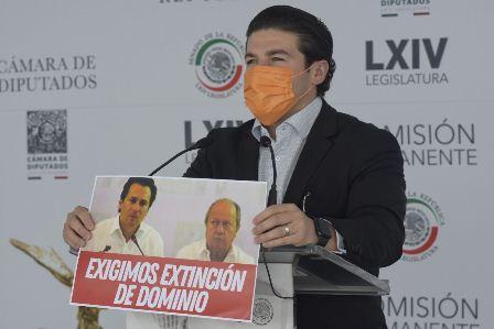 Debe Lozoya apuntar a Enrique Peña y Luis Videgaray; Merecen extinción de dominio: Samuel García