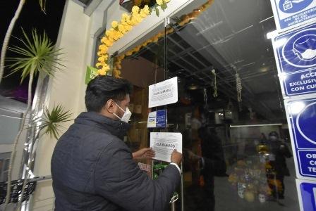Clausuran seis establecimientos en Oaxaca por incumplimiento de la normatividad