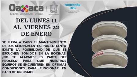Realiza CEPCO mantenimiento del Sistema de Alertamiento Sísmico de Oaxaca