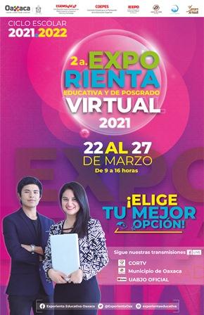Realizarán Segunda Exporienta Educativa y de Posgrado Virtual 2021