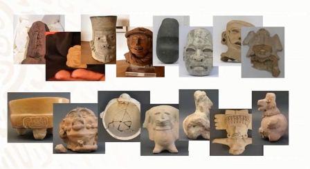 Devuelven 34 piezas arqueológicas a México