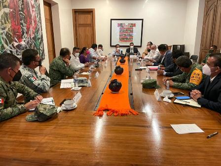 Instala Mesa de Seguridad de Oaxaca sesión permanente para garantizar integridad en comicios del 6 de junio
