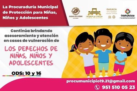 DIF Municipal de Oaxaca de Juárez sigue velando por los derechos de niñas, niños y adolescentes