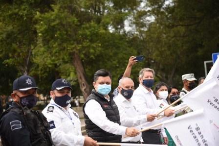 Sectur y SSPO dan Banderazo para temporada de Verano Seguro 2021 en Oaxaca