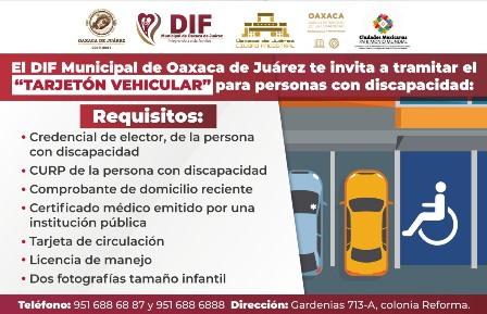 Continúa DIF Municipal entregando tarjetones de estacionamiento a personas con discapacidad