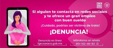 Prisión preventiva contra mujer, probable responsable del delito de trata de personas