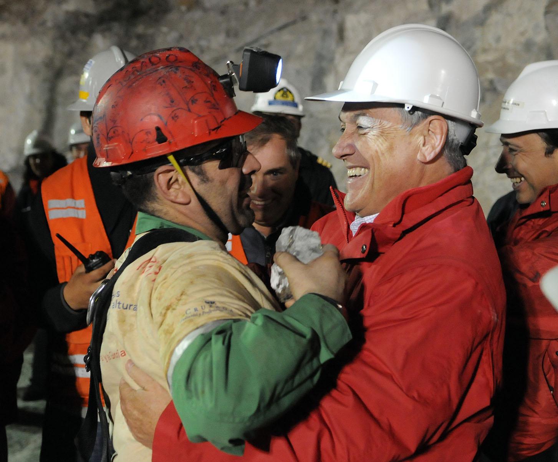 Rescatan al segundo minero en Chile Mario Sepúlveda