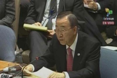 ONU consejo de seguridad Ban Ki