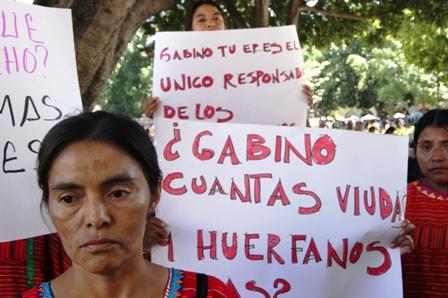 Desplazadas de San Juan Copala demandan justicia en Oaxaca
