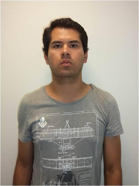 """Daniel Peña, de 23 años de edad detenido por transportar droga sintética """"cristal"""""""