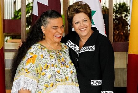 Presidenta Dilma Rousseff recibe credenciales de Beatriz Elena Paredes Rangel, embajadora de México en Brasil