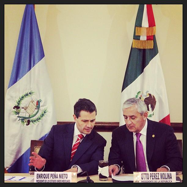 Peña Nieto y Pérez Molina