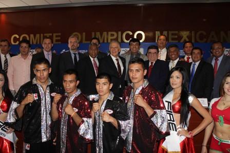 Duelo boxístico México Guerreros vs Domadores de Cuba, en la Ciudad de México