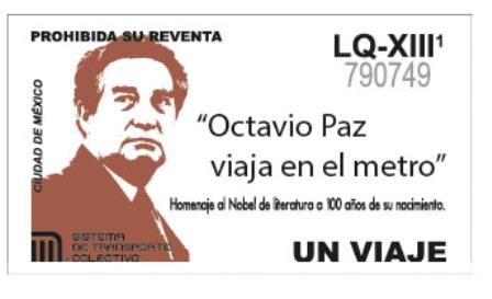 Rinde STC Metro homenaje a Octavio Paz, en el marco de los 100 años de su natalicio