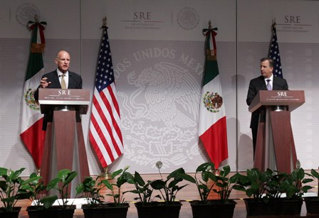 Gobernador de California - Canciller mexicano