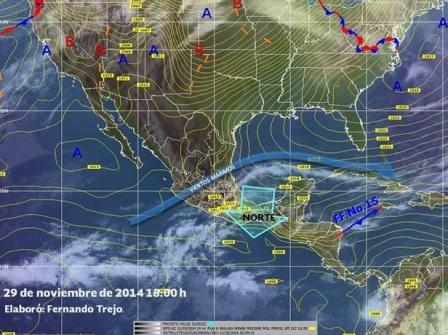 Continuará ambiente frío en Oaxaca por Sistema Frontal Número 15