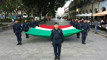 Ceremonia de arrio de Bandera