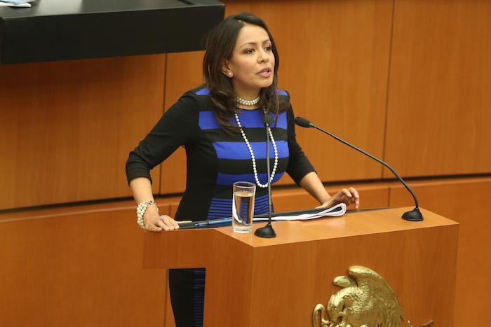 MÉXICO D.F. 22ENERO2015.- Mariana Benitez Tiburcio, subprocuradora Jurídica y de Asuntos Internacionales, durante su ponencia en las audiencias publicas en materia de seguridad y justicia realizado en el senado de la república. FOTO: SAÚL LÓPEZ /CUARTOSCURO.COM