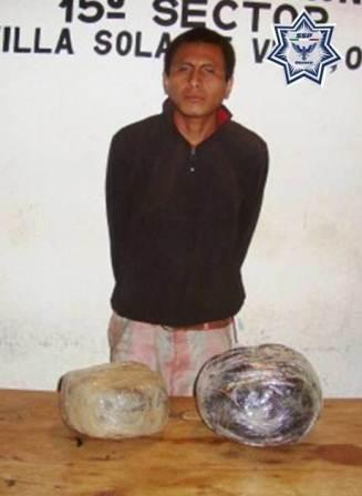 Fue detenido con marihuana
