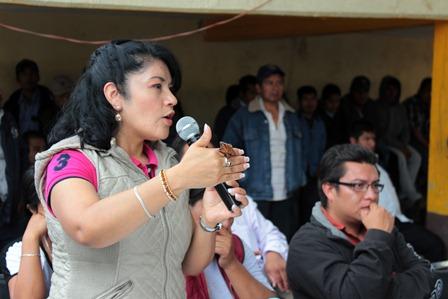 Presidenta de la Comisión de Sistemas Normativos Indígenas