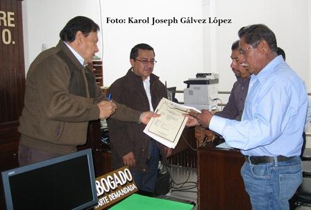 Entregó el magistrado José Martín López Zamora