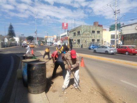 Obra de agua potable en Oaxaca de Juárez