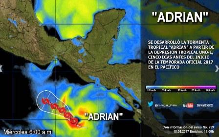 "Tormenta tropical ""Adrián"""