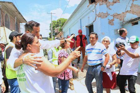 Casas afectadas por los sismos